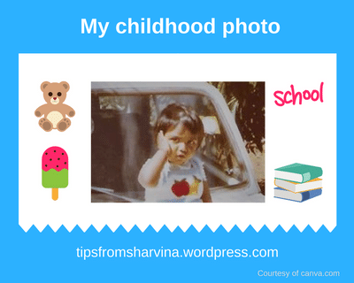 Sharvina.y childhood photo WordPress blogger