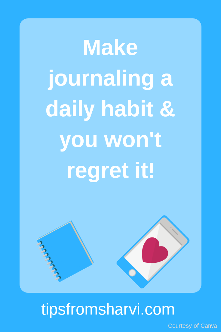 8 benefits of journaling for your success, Tips from Sharvi.