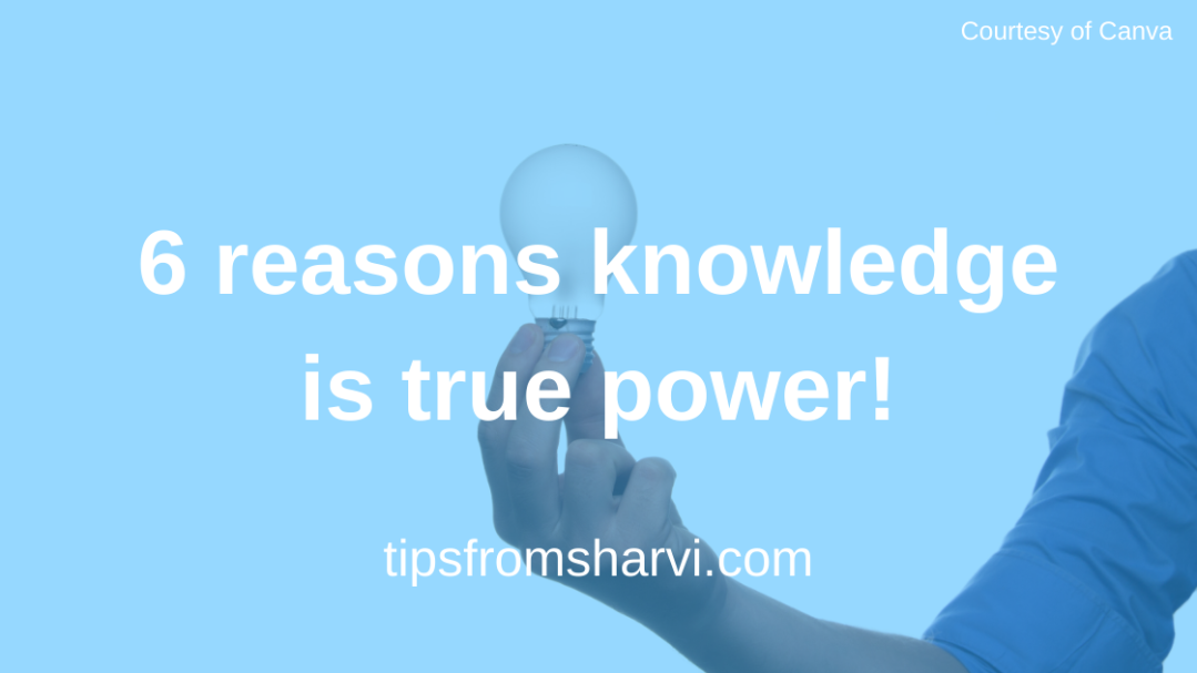 6 reasons knowledge is true power! #knowledgispower #onlinecourses