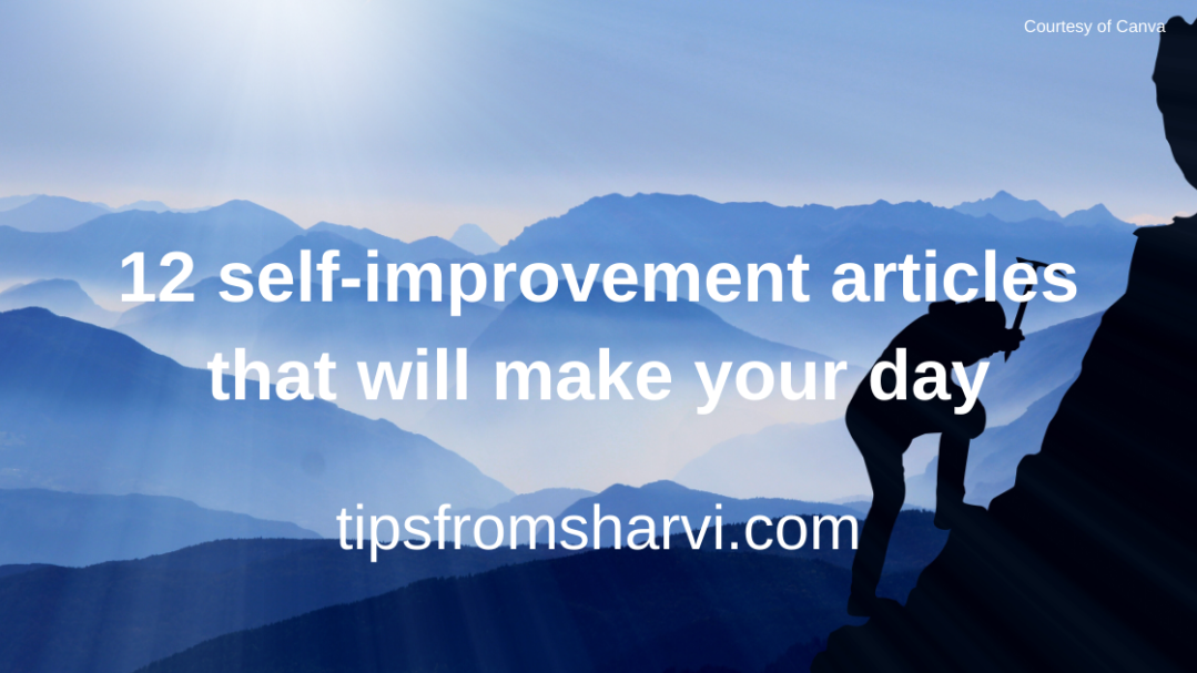 12 self-improvement articles that will make your day