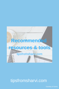 Recommended resources and tools