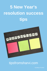 5 New Year's resolution success tips