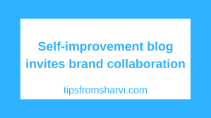 Self-improvement blog invites brand collaboration