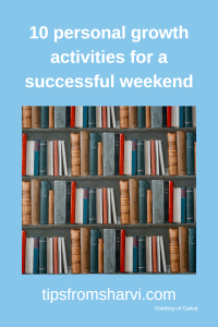 10 personal growth activities for a successful weekend