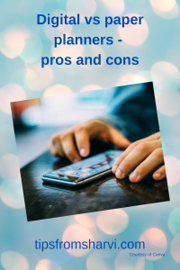 Digital vs paper planners - pros and cons